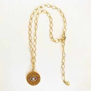 SEQUIN Evil Eye Agate Crystal Pendant Necklace